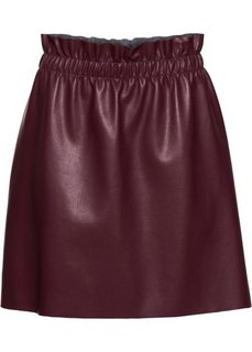 Мини-юбка из кожезаменителя (кленово-красный) Bonprix