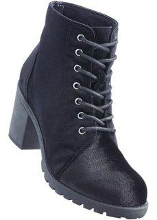 Полусапожки на шнурках (черный) Bonprix