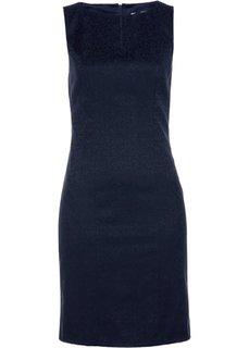 Платье-футляр из жаккарда (темно-синий) Bonprix