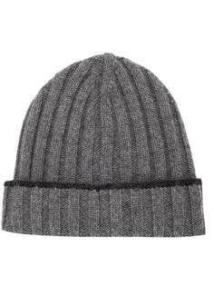 шапка-бини ребристой вязки Brunello Cucinelli