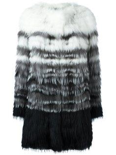 меховая куртка с градиентным эффектом Yves Salomon