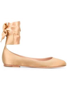 балетки с атласной лентой Gianvito Rossi