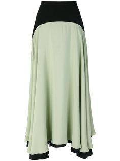 асимметричная двухцветная юбка Christopher Kane