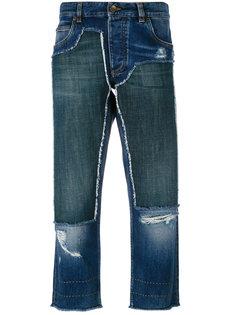 укороченные джинсы с нашивками Dolce & Gabbana