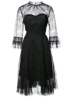 кружевное платье Carolina Herrera
