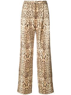 брюки с принтом  Adam Lippes