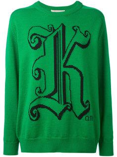 свитер с круглым вырезом под горло Christopher Kane