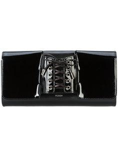 corset detail clutch bag Perrin Paris