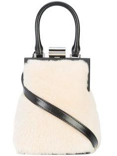 fur detail satchel  Perrin Paris