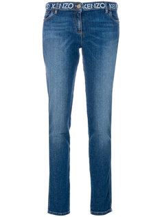 джинсы с логотипом  Kenzo