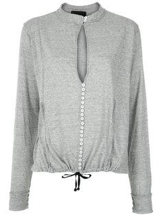 buttoned blouse Andrea Bogosian