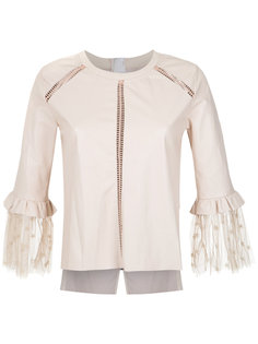 leather blouse Andrea Bogosian
