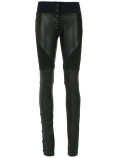 leather skinny trousers Andrea Bogosian