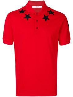 футболка-поло с нашивками звездами Givenchy