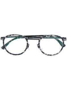 очки в круглой оправе с рисунком Mykita