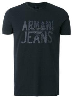 футболка с принтом логотипа Armani Jeans
