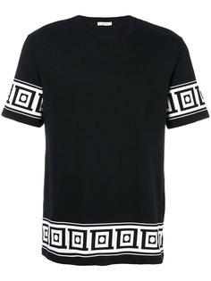 футболка с узорчатой отделкой Versace Collection