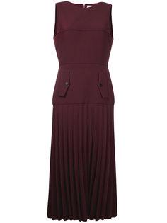 платье из джерси-крепа с плиссировками Dion Lee