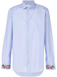 рубашка с принтом пейсли на манжетах  Paul Smith