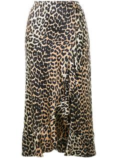 юбка с леопардовым рисунком Ganni
