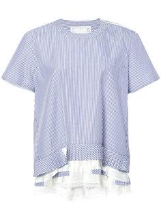 асимметричная блузка в полоску Sacai