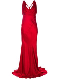 вечернее платье с драпировкой Alberta Ferretti