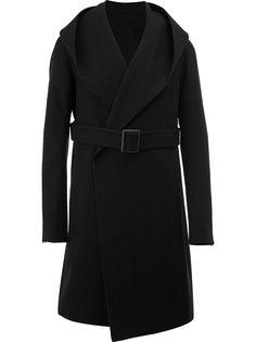 пальто с воротником-шалькой Rick Owens