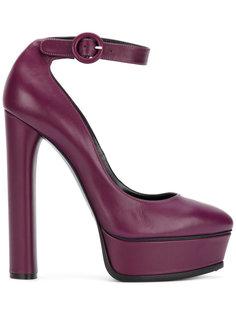 туфли на высоких каблуках с пряжками Casadei