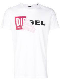 layered logo print T-shirt Diesel