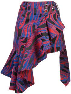 асимметричная юбка с оборками Marquesalmeida