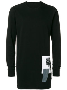 patch appliqué sweatshirt Rick Owens DRKSHDW
