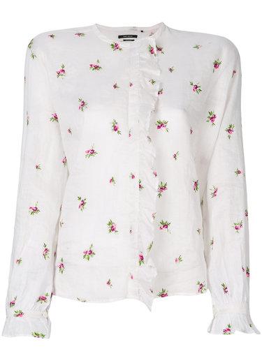 рубашка с вышивкой 'Uamos' Isabel Marant