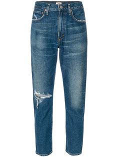 укороченные джинсы скинни с прорванной деталью Citizens Of Humanity