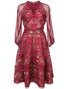 кружевное платье с пышной юбкой Marchesa Notte