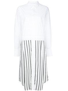 платье-рубашка с контрастной отделкой  Bassike