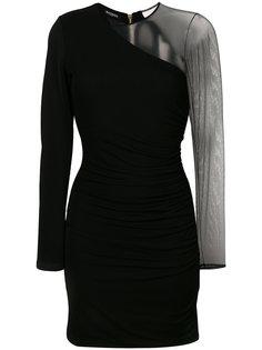 платье-мини с прозрачным рукавом Balmain