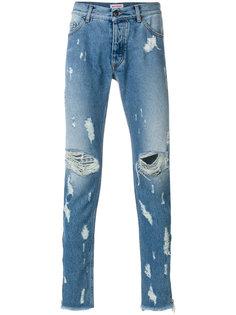 джинсы с потертой отделкой Palm Angels