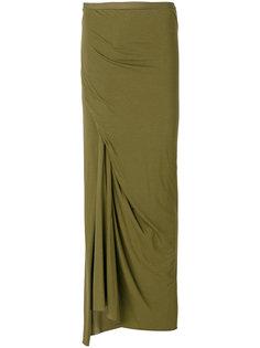 юбка макси с драпировкой  Rick Owens Lilies