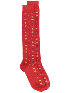 носки с цветочным принтом Etro