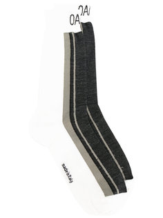 носки дизайна колор-блок Oamc