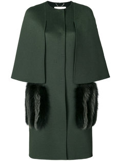 пальто с отделкой на карманах  Fendi
