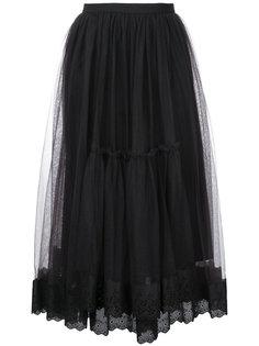 полупрозрачная пышная юбка-миди  Le Ciel Bleu