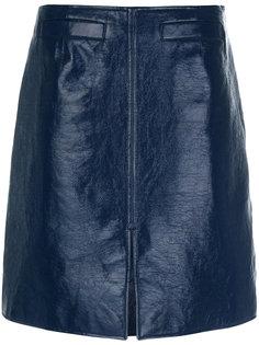 юбка миди с разрезом спереди  Courrèges