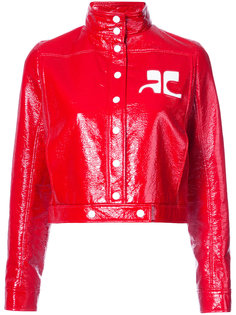 укороченная куртка бомбер с логотипом Courrèges