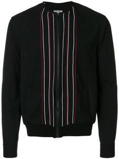 куртка-бомбер с полосатой вышивкой Lanvin