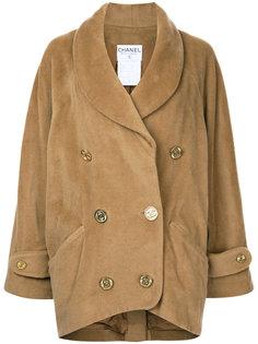 двубортная куртка с логотипом на пуговицах Chanel Vintage