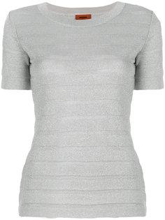 футболка со вставкой  Missoni