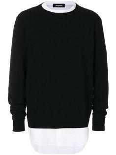 свитер и рубашка Dsquared2