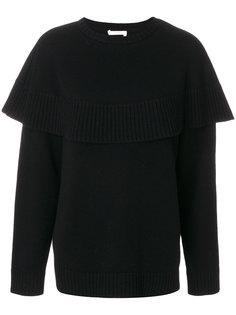 кашемировый свитер-кейп  Chloé