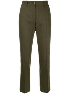 укороченные строгие брюки  Jil Sander Navy
